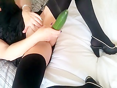 Playing With A Cucumber