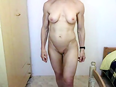 Muscular Granny On Webcam