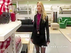 No Panties And Upskirt In Ikea