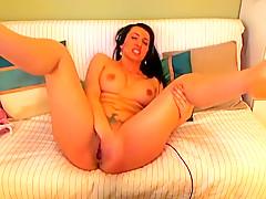 Fabulous amateur squirting, webcam porn scene
