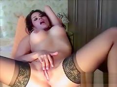 Incredible amateur masturbation, big tits adult clip