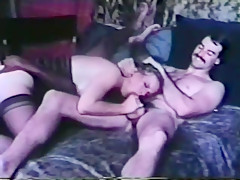 Fabulous amateur blowjob, threesome adult movie