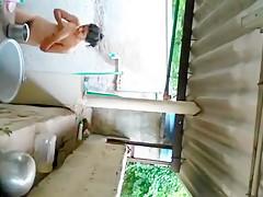 Next Door Young Girl Taking Bath