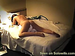 Nude girl humping pillow