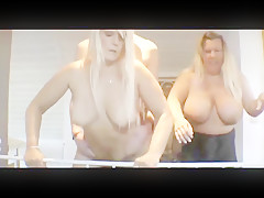 Two milfs creampied by a single stranger