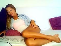 Horny amateur blonde, european porn video