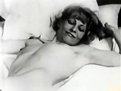 Hottest amateur brunette, vintage porn clip