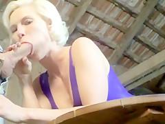 Kim-van-Staart - Deep Blowjob in Latex