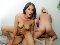 Best homemade Threesome, Small Tits sex scene