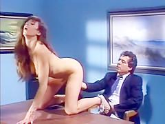 Fabulous amateur Brunette, Vintage porn scene