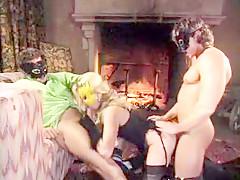 Crazy homemade Stockings, Fetish sex scene