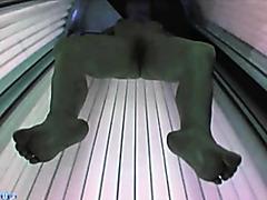 solarium, boob show