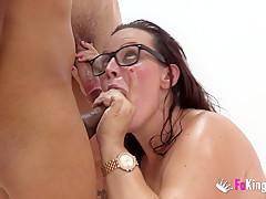 Bukkake! Sex Shop clerk swallows it all