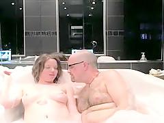 Exotic amateur Webcam, Shower sex clip