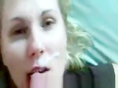 Hottest homemade Facial, Cumshot adult clip