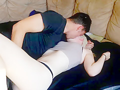 Little Blonde Slut Creampied By Thick Cock