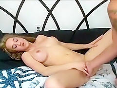 Horny Amateur Couple Fucks On The Bed