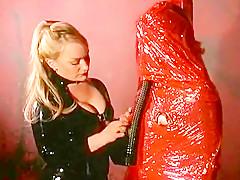 Horny Submissive in Adhesive Bondage