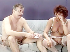 Submissive Wife Gobbles Husband's Load