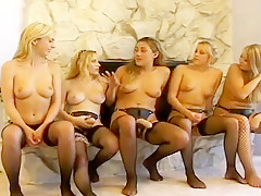 Man Anus Banged By Several Blonde Maids