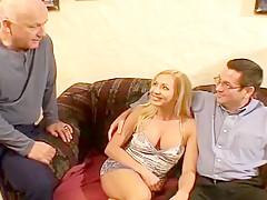 Lisa Reynolds Seduces 2 Men With Her Huge Tits