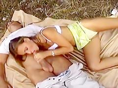 Perfect Body Blond Katalin Bent Over The Hood For Deep Sex
