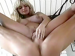 Erika Mellow Spread Out in Sex Swing and Banged Hard