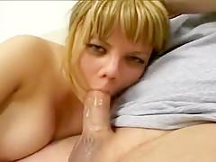 Chubby Blond Sliding Suckhole Down Penis