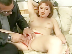 Carey Jone Cheers on Nick Manning as He Fucks Her Tight Pussy
