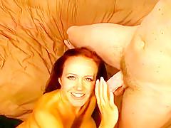 Redhead Bailey O'Dare Sucks On Huge Cock