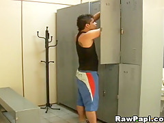 Hunky Latino got his tight anus stuffed by his Gym partner