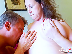 AgedLovE Hot Mature Lady Seducing Businessman 2