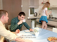 Sell Your GF - Isabel Stern - Sex dessert on a kitchen table
