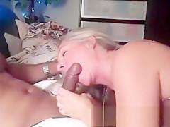 Mature Blonde Cougar Has An Interracial Fuck Fest