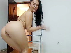 Sexy Latina Striptease and Masturbation