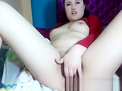 Office masturbation and blowjob