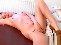 Skinny blonde slut has doggystyle anal sex