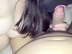 Gloryhole fetish slut sucking big black cocks