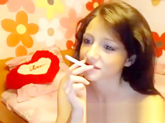 Amazing brunette babe in webcam part 1