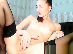 Camslut uses four fingers to squirt