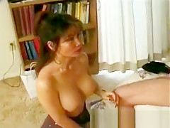 Horny Asian mamasan gives blowjob and more