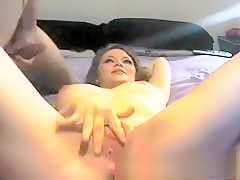 Fucking his big titty chick doggystyle