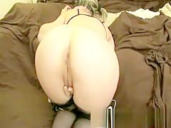 Blonde amateur milf does anal on pov camera 13