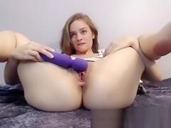 Spread masturbation with my gaping pussy