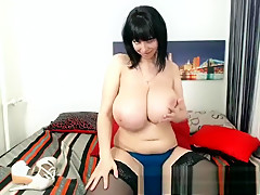 Ass licking MILF with huge boobs