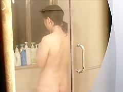 Asian bathroom voyeur