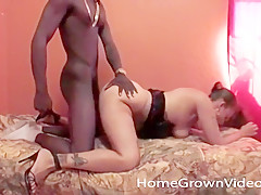 Horny Ebony Couple Makes Their First Video