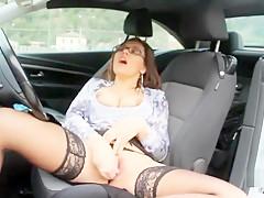Pompino sulla A1 con Valeria Borghese