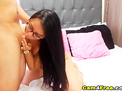 Pretty Colombian Nerd Receive A Load Of Cum After Sex