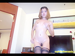 Exclusive Scene Thai Amateur Lek Fucks In Race Queen Outfit The Gets Oiled Up And Fucked On Furniture By Big Cock